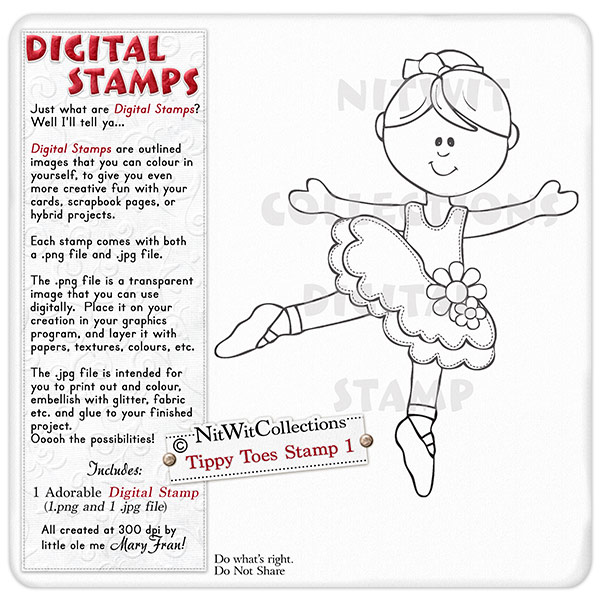 Tippy Toes - Stamp 1 - Click Image to Close