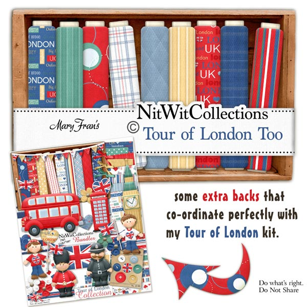 Tour of London Too - Digital Scrapbooking background papers
