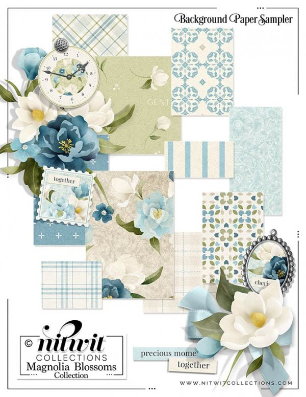 Bundled - Magnolia Blossoms Collection - Click Image to Close
