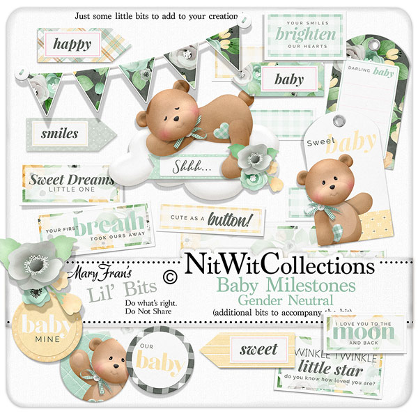 Bundled - Baby Milestones Gender Neutral Collection - Click Image to Close