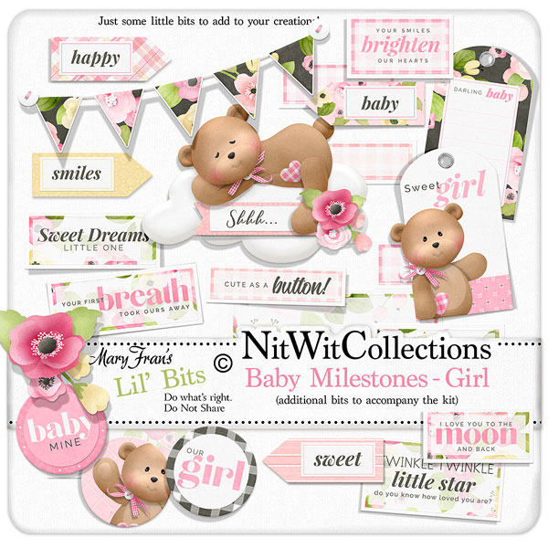 Bundled - Baby Milestones Girl Collection - Click Image to Close