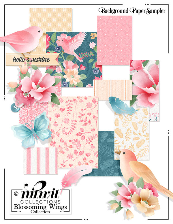 Bundled - Blossoming Wings Collection - Click Image to Close