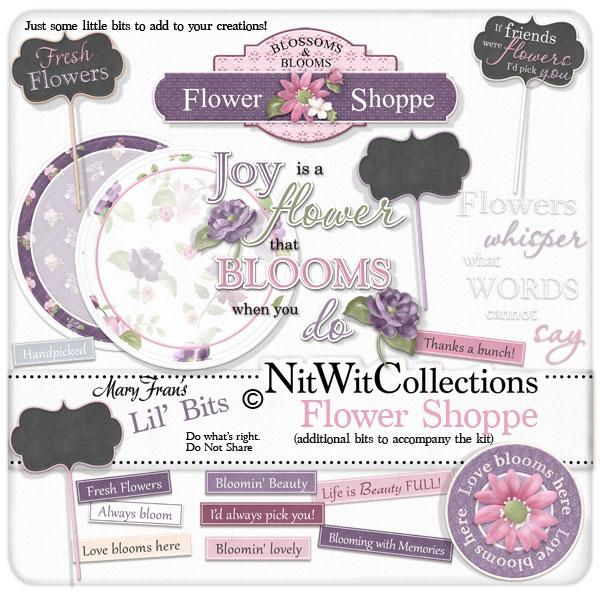 Bundled - Flower Shoppe Collection - Click Image to Close