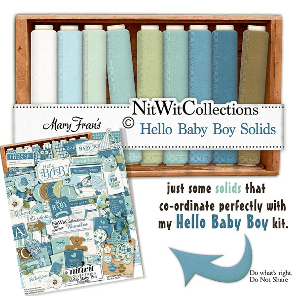 Bundled - Hello Baby Boy Collection - Click Image to Close