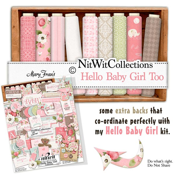 Bundled - Hello Baby Girl Collection - Click Image to Close