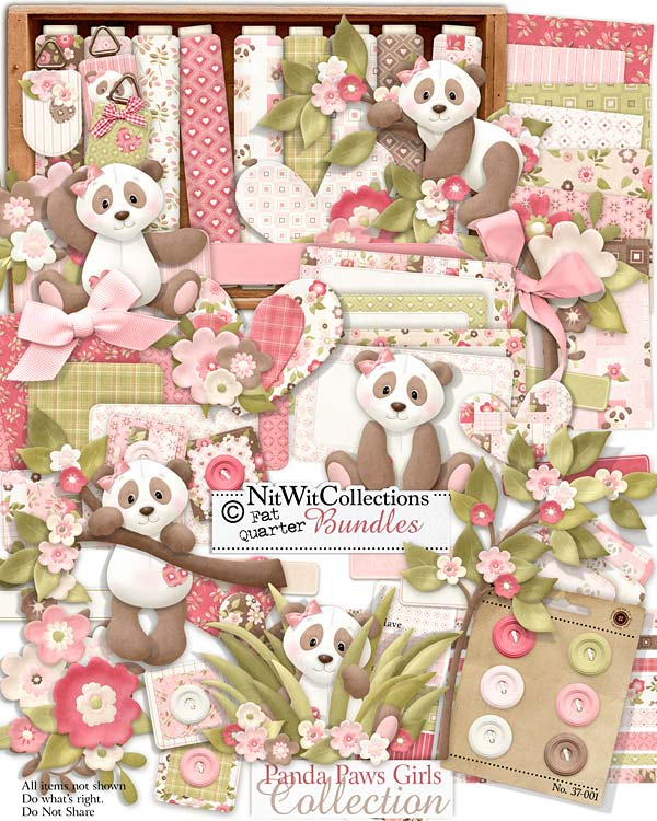 Bundled - Panda Paws Girls Collection - Click Image to Close