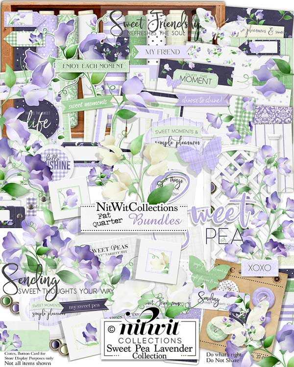 Bundled - Sweet Pea Lavender Collection - Click Image to Close