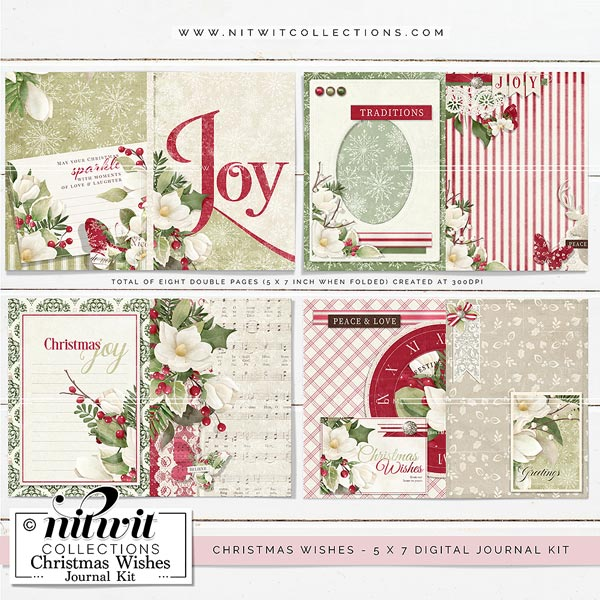 Journal Kit - Christmas Wishes - Click Image to Close