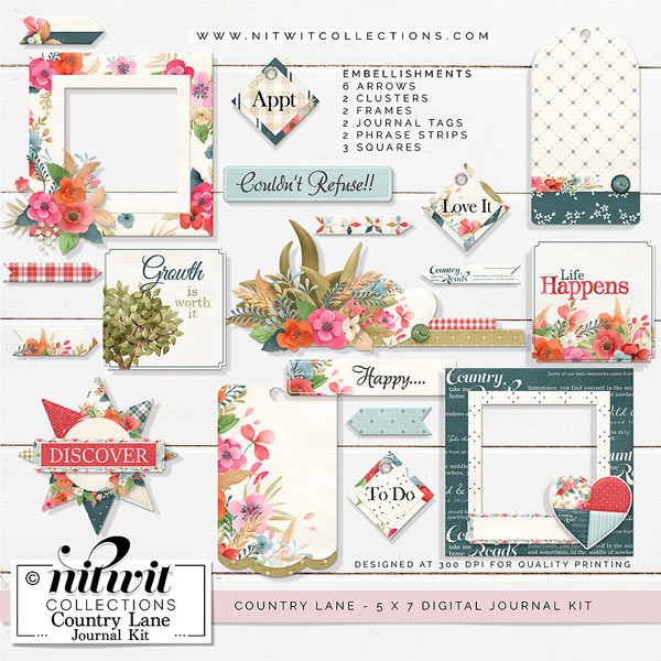 Journal Kit - Country Lane - Click Image to Close