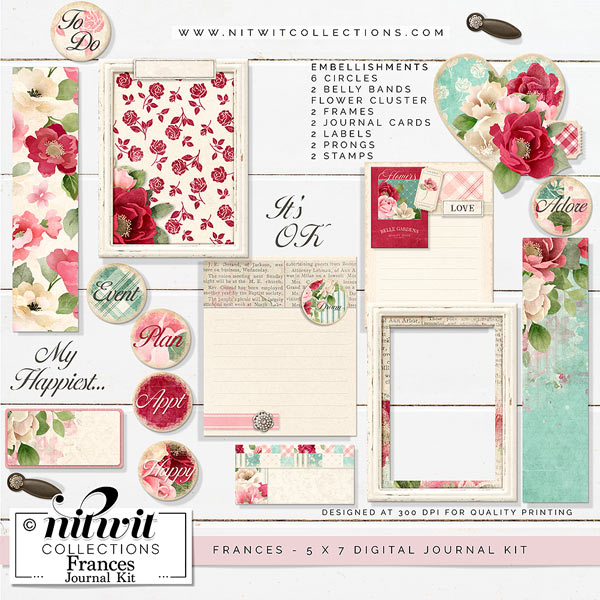 Journal Kit - Frances - Click Image to Close