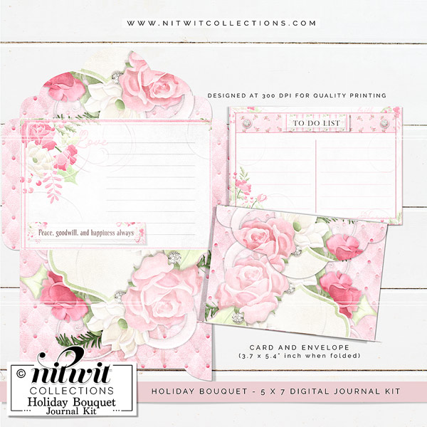 Journal Kit - Holiday Bouquet - Click Image to Close