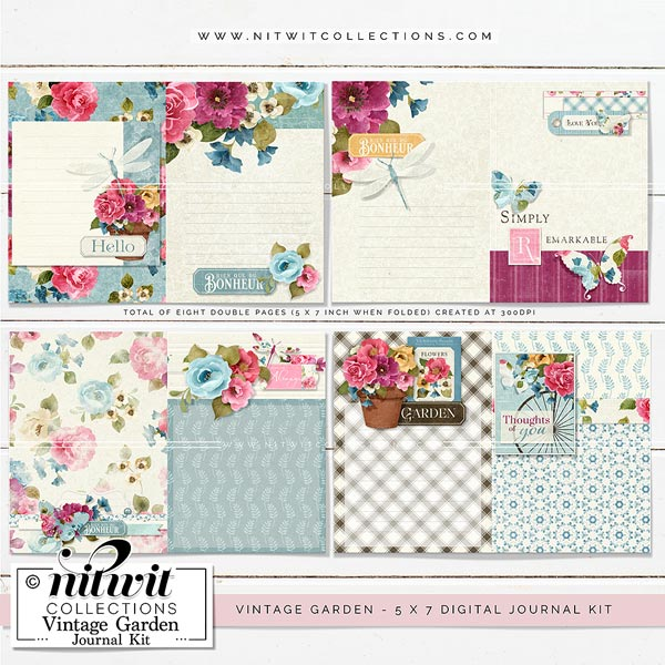 Journal Kit - Vintage Garden - Click Image to Close