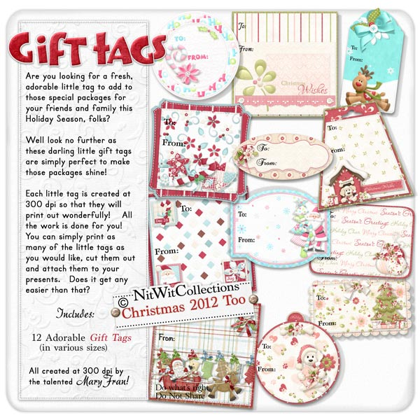 Gift Tags - Christmas 2012 - Click Image to Close
