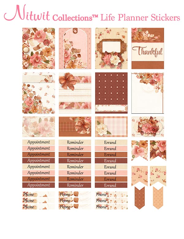Autumnal Bliss - Life Planner Stickers - Click Image to Close