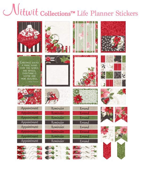 Christmas Romance - Life Planner Stickers - Click Image to Close