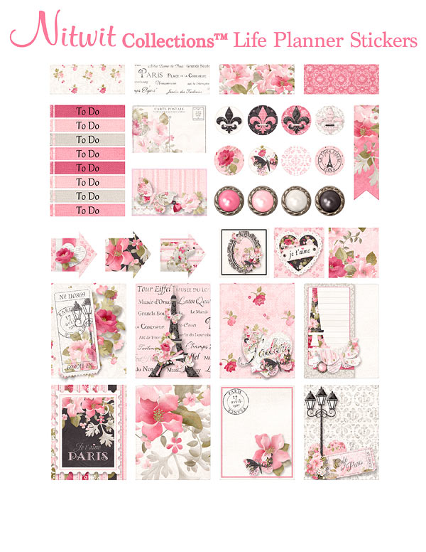 Ooh La La Collection - Life Planner Stickers - Click Image to Close