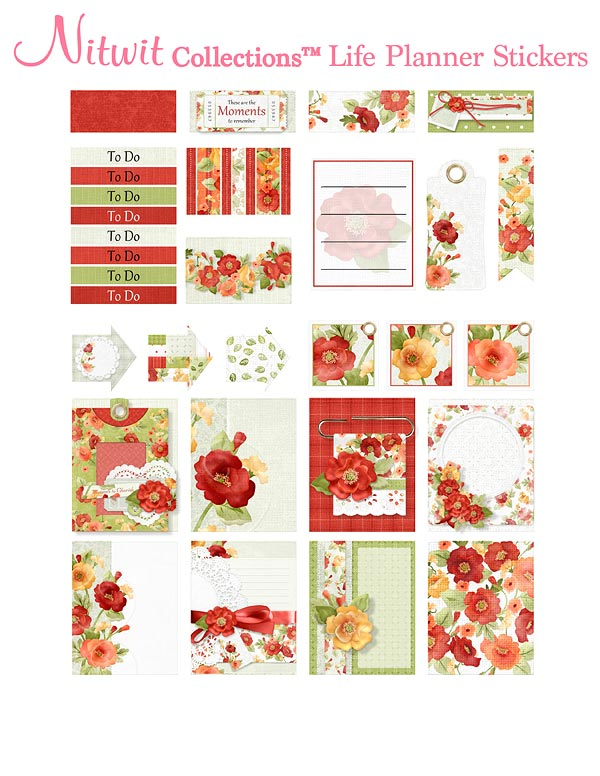 Poppies Collection - Life Planner Stickers - Click Image to Close