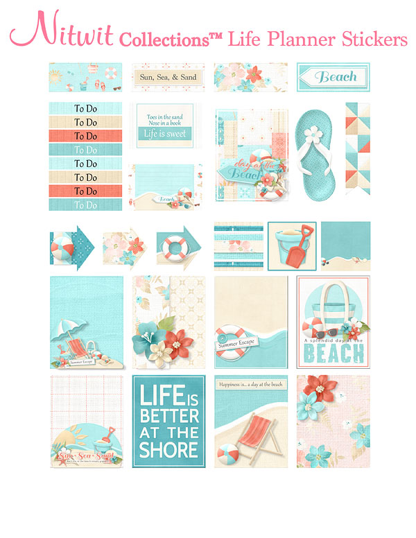 Sun Kissed - Life Planner Stickers - Click Image to Close