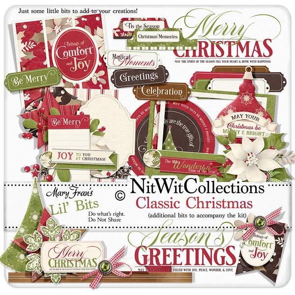Classic christmas lil bits digital elements nitwit collections lil bits classic christmas m4hsunfo