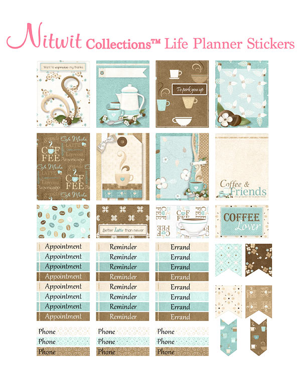 Coffee Talk Collection - Life Planner Stickers - Click Image to Close